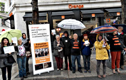 Action contre le soutien de l'occupation israélienne par Orange
