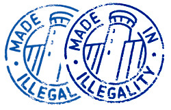 "Logo campagne ""Made in illegality"""